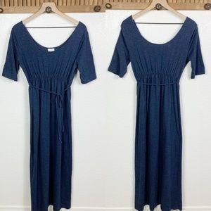 Motherhood Maternity Blue High Waist Maxi Dress